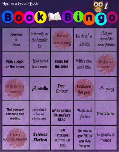 Bingo card in use