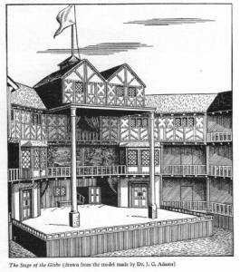 "The original Globe Theatre, complete with stage ""apron"""